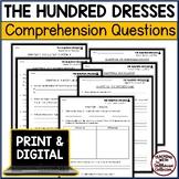 THE HUNDRED DRESSES Upper Elementary Short-Response Chapte