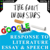 THE FAULT IN OUR STARS Essay Prompts and Speech w Rubrics (Created for Digital)