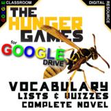 THE HUNGER GAMES Vocabulary List and Quiz (Digital Distance Learning)