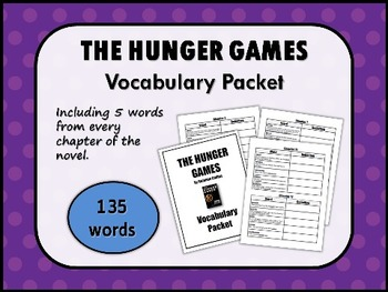 THE HUNGER GAMES by Suzanne Collins VOCABULARY PACKET
