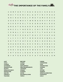 THE IMPORTANCE OF THE FAMILY UNIT WORD SEARCH
