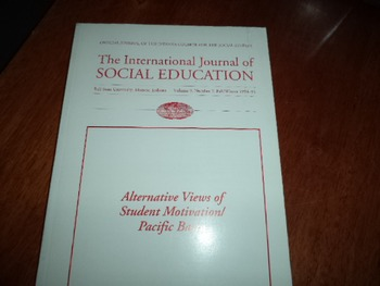 THE INTERNATIONAL JOURNAL OF SOCIAL EDUCATION