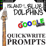 ISLAND OF THE BLUE DOLPHINS Journal - Quickwrite Writing (Created for Digital)