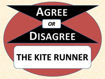THE KITE RUNNER - Agree or Disagree Pre-reading Activity