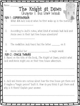 THE KNIGHT AT DAWN: Magic Tree House #2 Book Companion