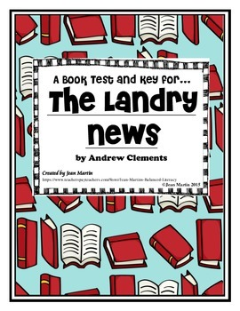 THE LANDRY NEWS by Andrew Clements: Book Test & Key