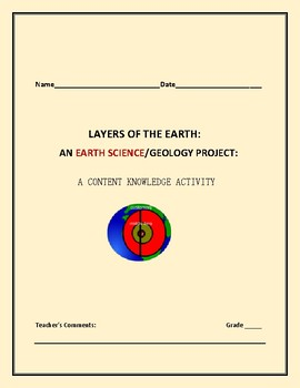 THE LAYERS OF THE EARTH: A GEOLOGY PROJECT/ACTIVITY