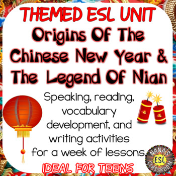 The Chinese legend of Nian ESL reading and writing activities for teens