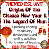 Chinese New Year ESL/ELL Unit Reading Passages, Speaking and Writing Activities