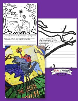 THE LEGEND OF SLEEPY HOLLOW, COLLABORATIVE POSTER, HALLOWEEN WRITING ACTIVITY