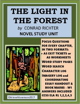 THE LIGHT IN THE FOREST Novel Study Unit