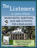 THE LISTENERS  by Gloria Whelan, Study Unit