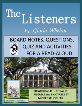 THE LISTENERS  by Gloria Whelan, Study Unit