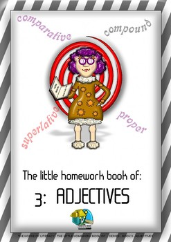 THE LITTLE HOMEWORK BOOK OF ADJECTIVES (BOOK 3 OF SERIES)
