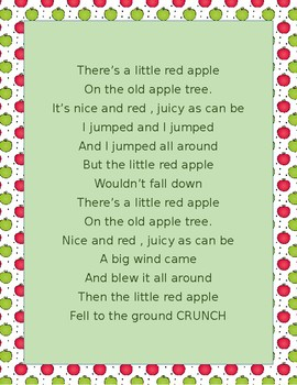 THE LITTLE RED APPLE SONG a great K-2 song for fall with movement.