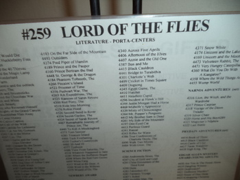 THE LORD OF THE FLIES  #259