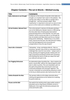 THE LOT -Michael Leunig Teacher Text guides and Worksheets