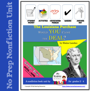 THE LOUISIANA PURCHASE Would You Close the Deal? Nonfiction Book Study + DIGITAL
