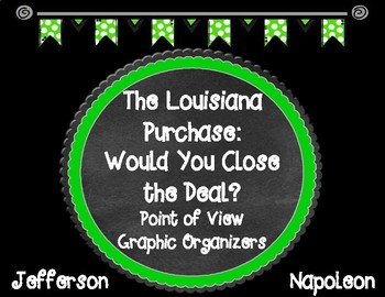 THE LOUISIANA PURCHASE Would You Close the Deal? Point of View Organizers