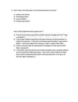THE MAKING OF A SCIENTIST 5TH LEAP/PARCC - Modern Science: What's Changing Test