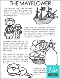 THE MAYFLOWER Coloring Page | Social Studies Unit Study | Pilgrims