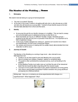 THE MEMBER OF THE WEDDING - McCullers WORKSHEETS