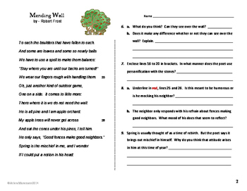 MENDING WALL by Robert Frost - Close Reading & Text