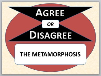 THE METAMORPHOSIS - Agree or Disagree Pre-reading Activity