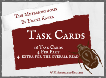THE METAMORPHOSIS - TASK CARDS