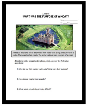 World History, THE MIDDLE AGES, Medieval Times, Emergency Lesson Plan