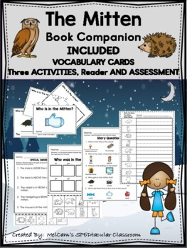 THE MITTEN - Book Activities - SPECIAL EDUCATION