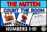 PRESCHOOL WINTER ACTIVITY KINDERGARTEN (THE MITTEN COUNT THE ROOM) NUMBERS 1-10