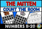 THE MITTEN ACTIVITIES (COUNT THE ROOM NUMBERS 11-20) WINTER KINDERGARTEN MATH