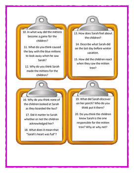 THE MITTEN TREE by Candace Christiansen - Discussion Cards