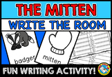THE MITTEN WRITE THE ROOM KINDERGARTEN VOCABULARY ACTIVITY