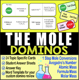 THE MOLE (Basics) ~DOMINO REVIEW~ 24 Cards + Answer Sheets + Key