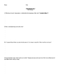 THE MONKEY PAW BY WW JACOBS COMPREHENSION QUESTIONS HANDOUT
