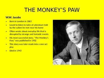 """""""THE MONKEY'S PAW"""" by W.W. Jacobs"""