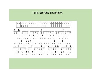 THE MOON EUROPA  CRYPTOGRAM