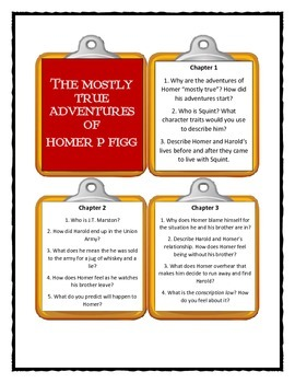 THE MOSTLY TRUE ADVENTURES OF HOMER P. FIGG Discussion Cards