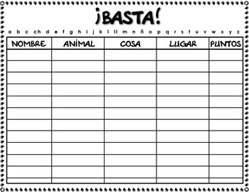 THE NAME OF THE GAME IS: ¡BASTA!