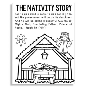 Religious Christmas Coloring Pages Worksheets Teaching Resources Tpt
