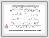 THE NINETEENTH AMENDMENT TO THE US CONSTITUTION- CRYPTOGRAM