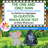 THE ONE AND ONLY IVAN |  PRINTABLE WHOLE BOOK TEST | 35 QUESTIONS