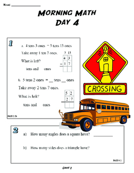THE ORIGIANL MORNING MATH DAILY SPIRAL REVIEW: 2ND GRADE