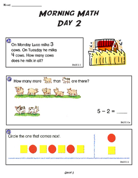 THE ORIGINAL MORNING MATH DAILY SPIRAL REVIEW: 1ST GRADE