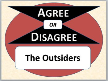 THE OUTSIDERS - Agree or Disagree Pre-reading Activity