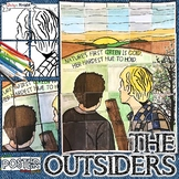 """THE OUTSIDERS, COLLABORATIVE POSTER, WRITING ACTIVITY, """"NOTHING GOLD CAN STAY"""""""