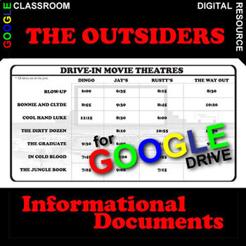 THE OUTSIDERS Drive-In Movie Times - Non-Fiction (Created for Digital)