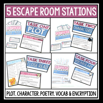 THE OUTSIDERS ESCAPE ROOM NOVEL ACTIVITY by Presto Plans | TpT